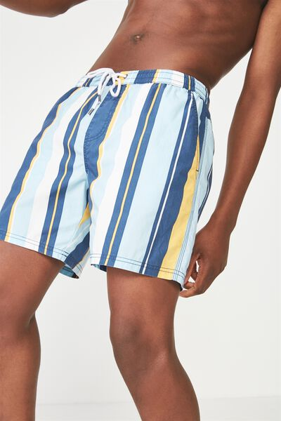 Kahuna Short, BLUES / GOLD MULTI STRIPE