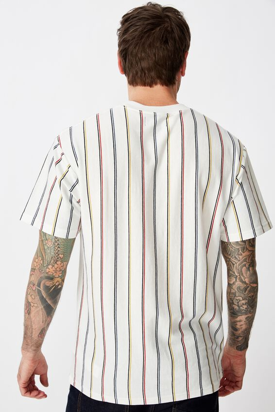 Downtown Loose Fit Tee, WHITE/BLACK/METHYL BLUE/ARTISANS GOLD/RACE RED/SUP