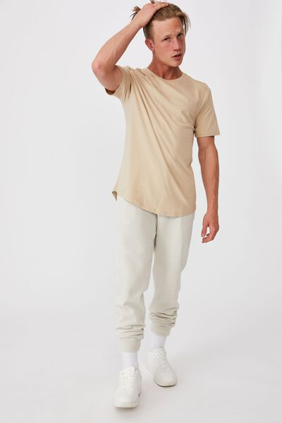 Essential Longline Scoop T-Shirt, STONE CLAY