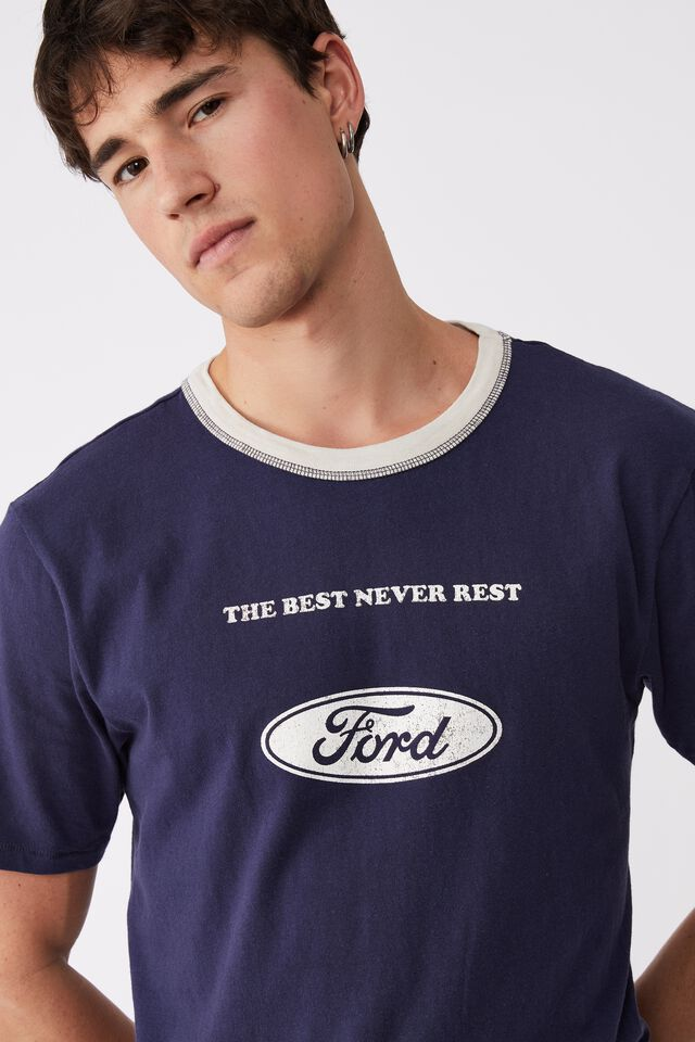 Ford T-Shirt, LCN FOR INDIGO/FORD - THE BEST NEVER REST
