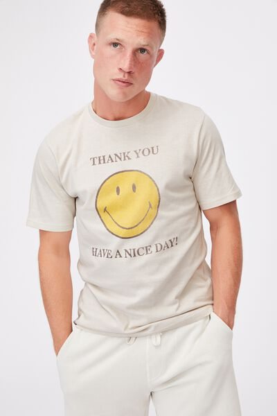 Tbar Collab Pop Culture T-Shirt, LCN SMI BONE/SMILEY-THANK YOU