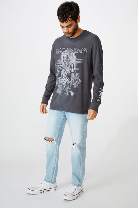 Special Edition Long Sleeve, LCN IRM FADED SLATE/IRON MAIDEN - EDDIE