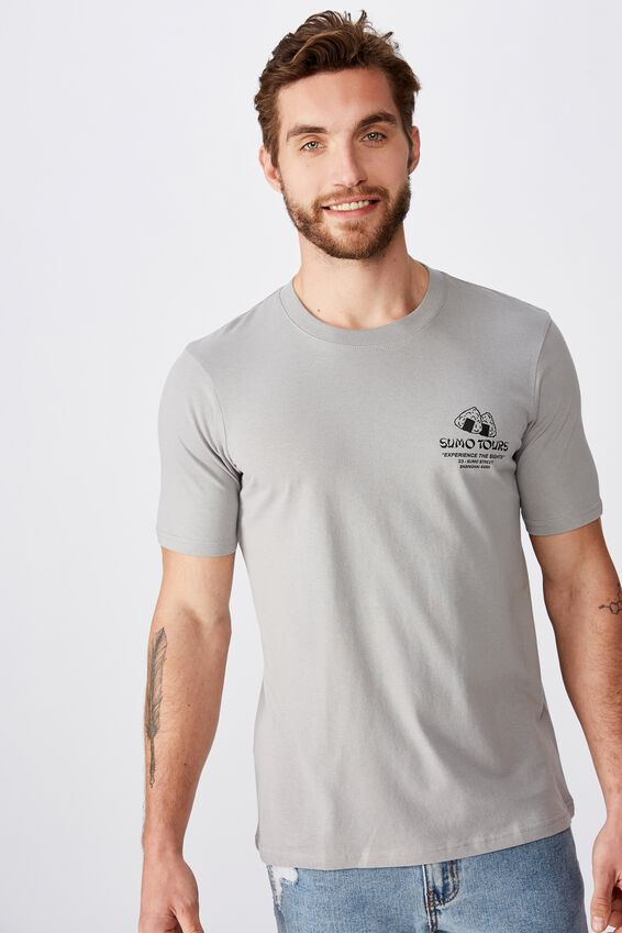 Tbar Souvenir T-Shirt, SK8 GUNPOWDER GREY/SUMO TOURS