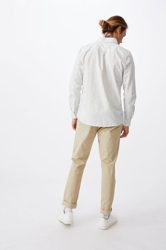 Brunswick Shirt 3, WHITE FINE STRIPE
