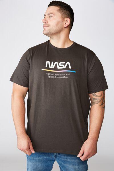 Tbar Collab Tee, LCN NAS WASHED BLACK/NASA - RETRO FADE