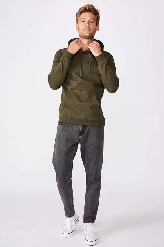 Essential Fleece Pullover, DUFFLE GREEN