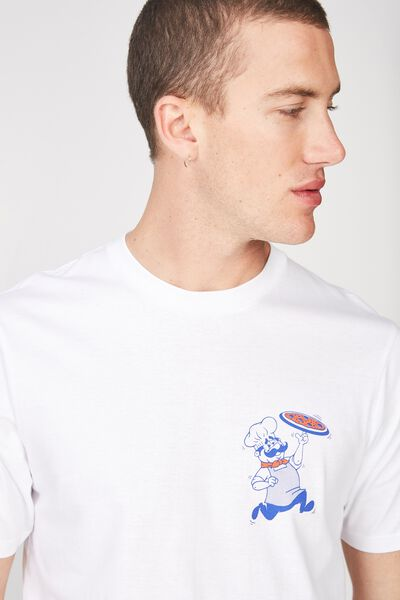 Tbar Tee 2, WHITE/DELIVERED HOT