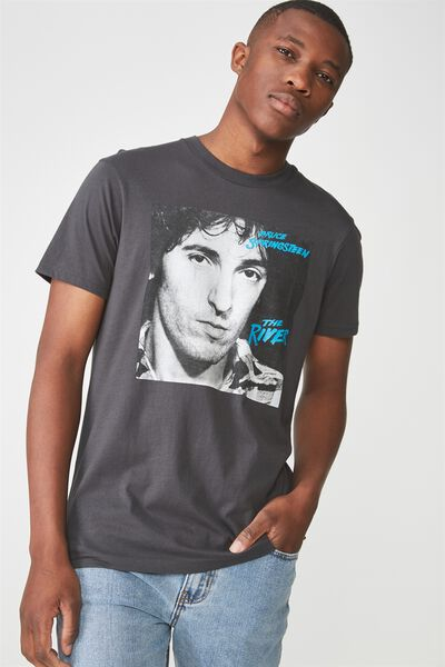 Tbar Collaboration Tee, LC FADED SLATE/SPRINGSTEEN