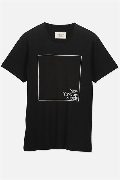 Tbar Tee 2, BLACK/NYC SUPPLY