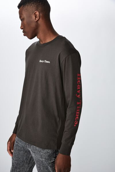 Tbar Long Sleeve, WASHED BLACK/HEAVY TIMES