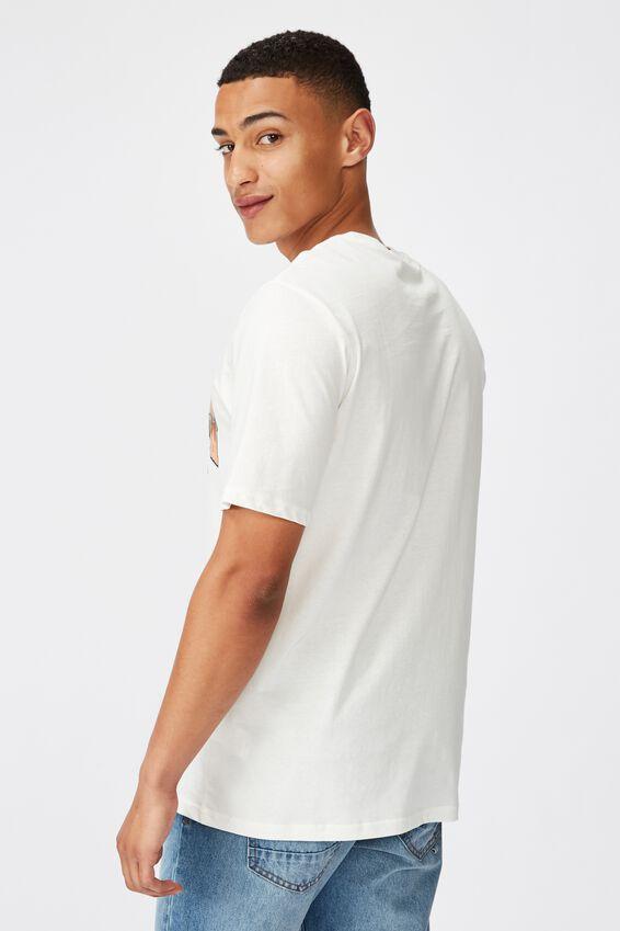 Tbar Moto T-Shirt, SK8 VINTAGE WHITE/HIGHWAY THUNDER