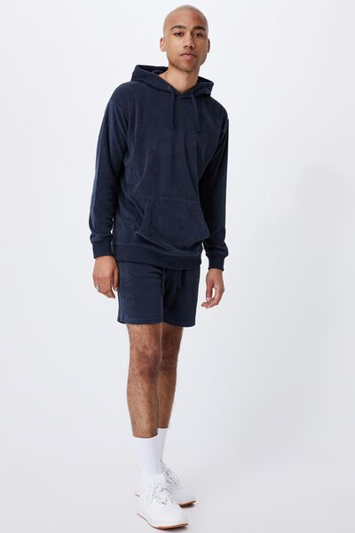 French Terry Pullover, TRUE NAVY