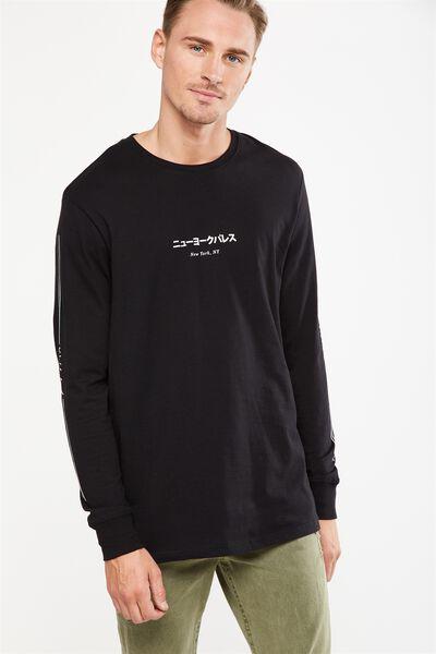 Tbar Long Sleeve, BLACK/NY DARK VICES