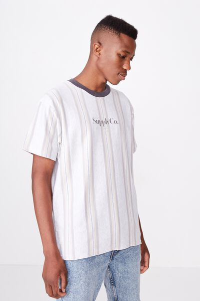 Downtown Loose Fit Tee, WHITE MARLE/SMOKE/OVERCAST GREY/FADED SLATE