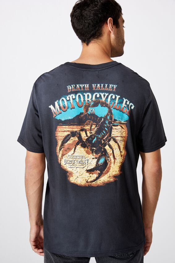 Bondi Tee, SK8 WASHED BLACK/DEATH VALLEY SCORPION