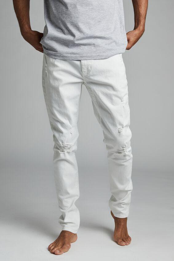 Super Skinny Jean, WHITE BLOWOUT