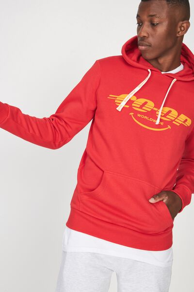 Fleece Pullover 2, STRONG RED/CO-OP WORLDWIDE