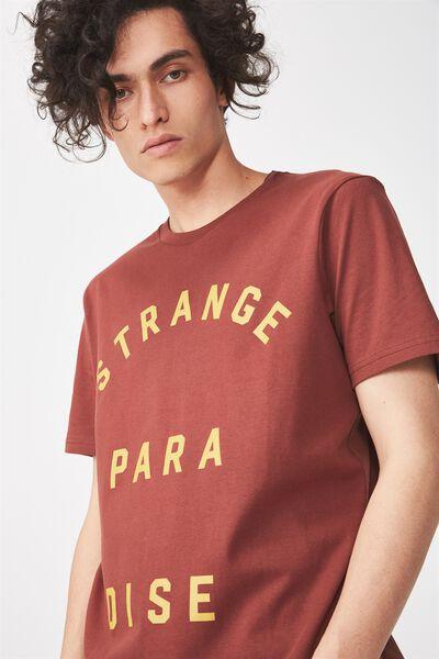 Tbar Tee 2, BARN RED/STRANGE PARADISE