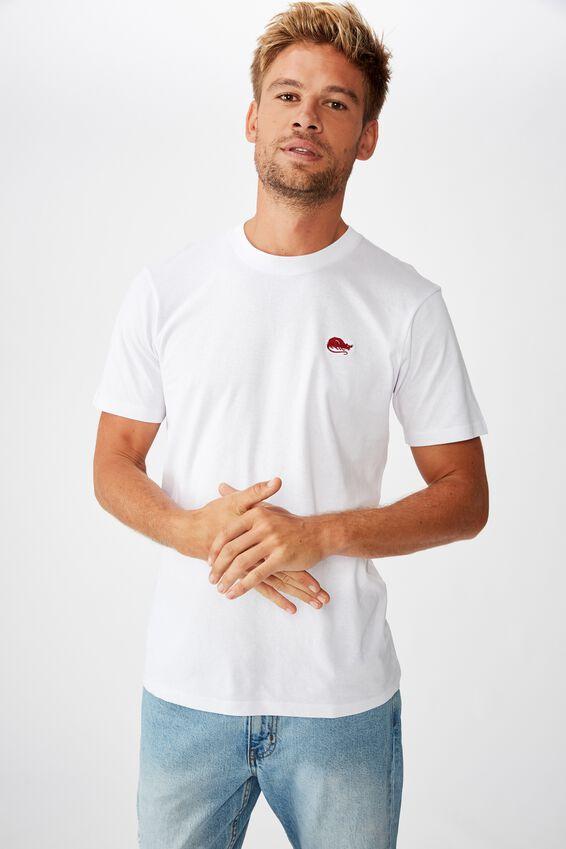 Tbar Cny T-Shirt, SK8 WHITE/RAT