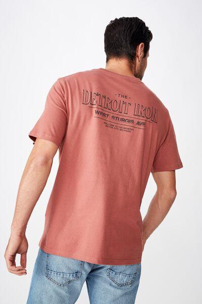 Tbar Moto T-Shirt, SK8 OX BLOOD/DETROIT IRON