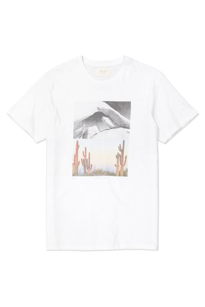 Tbar Tee, WHITE/ROCK CACTUS SPLIT