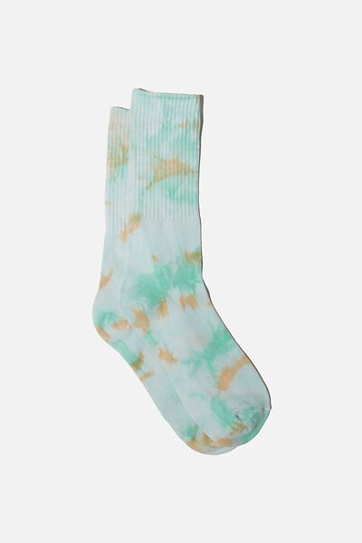 Special Edition Active Sock, TEAL/SOFT ORANGE/TIE DYE