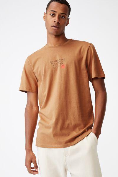 Tbar Text T-Shirt, BRONZE/12TH AVENUE