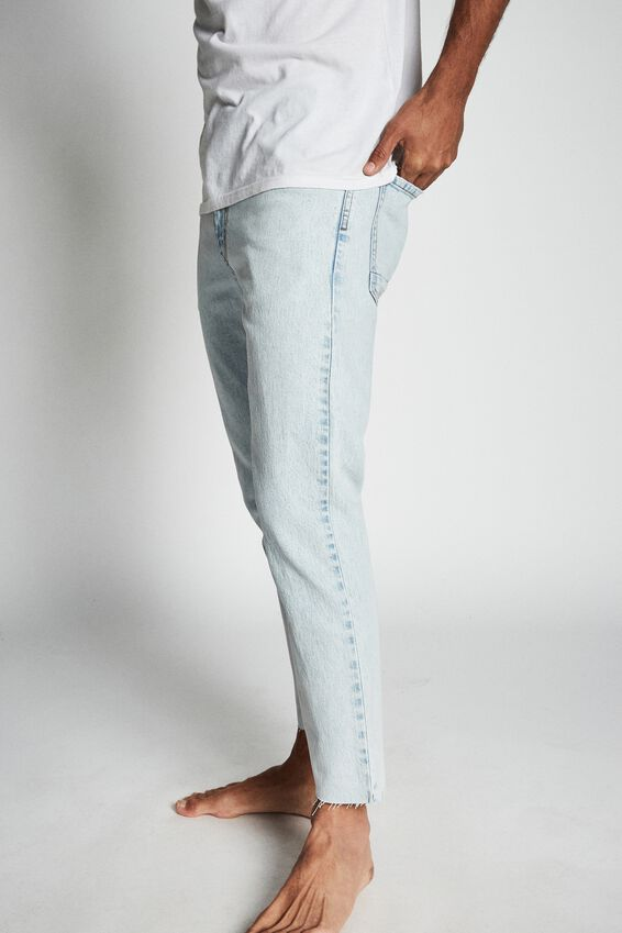 Raw Crop Jean, BLEACHED BLUE
