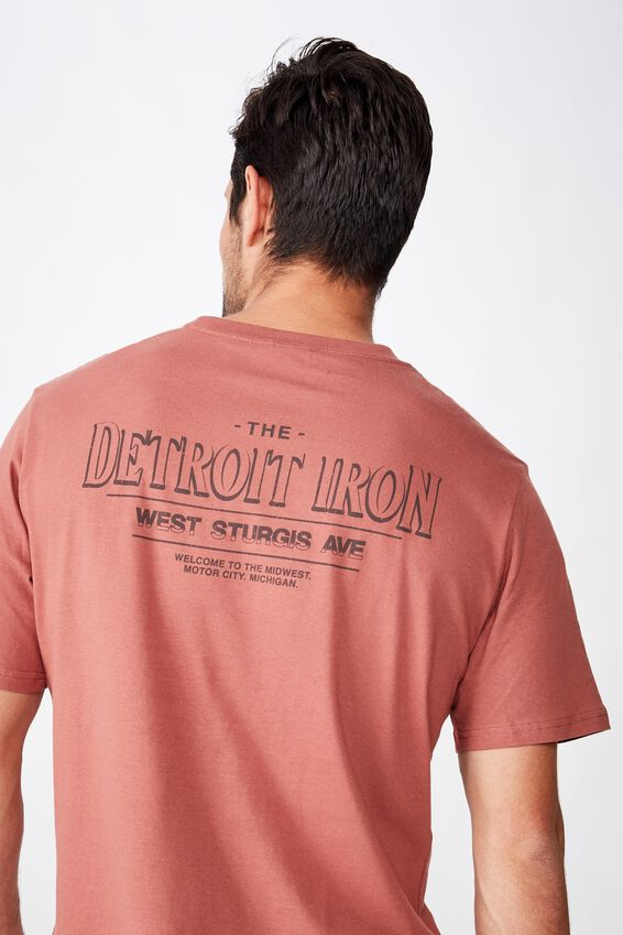 Tbar Moto T-Shirt, SK8 OX BLOOD/DETROIT IRON