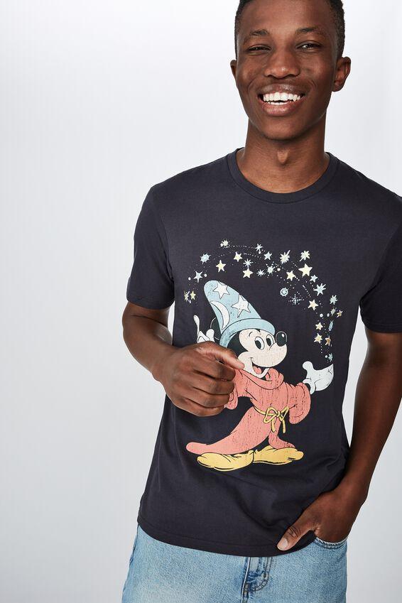 Tbar Collab Cny T-Shirt, LCN DIS TRUE NAVY/MICKEY MOUSE - FANTASIA MICK
