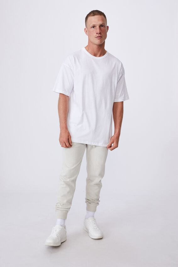 Oversized Droptail Tee, WHITE