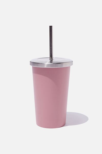 Metal Smoothie Cup 500Ml, DUSTY BLUSH