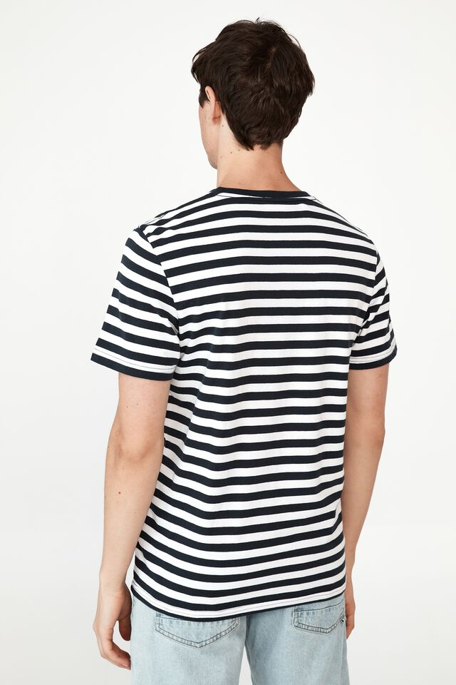 Organic Stripe T-Shirt, TRUE NAVY WHITE 50 50 STRIPE