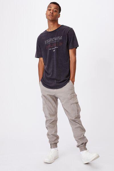 Longline Scoop T-Shirt, INK NAVY ACID/NINETEEN NINETY NINE