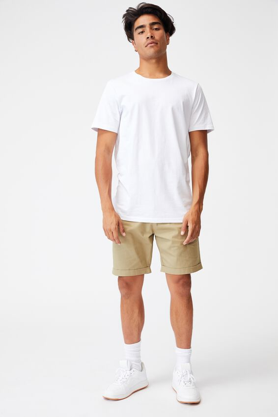 Washed Chino Short, PIGMENT ARMY GREEN