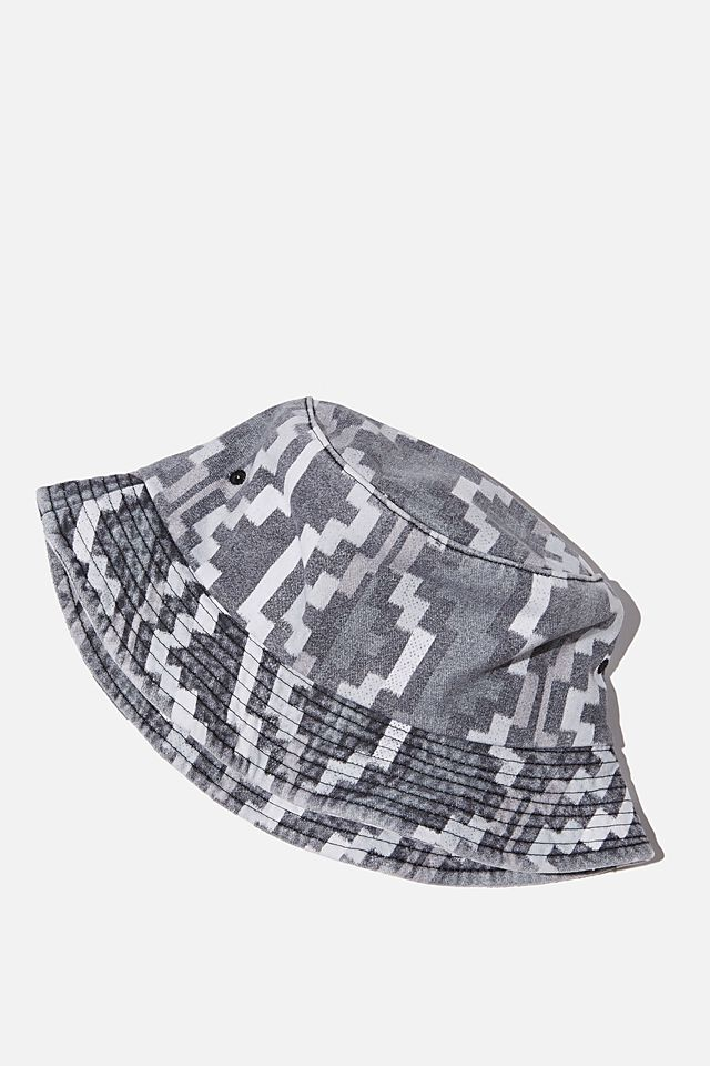 Special Edition Bucket Hat, BLACK/WHITE/IKAT