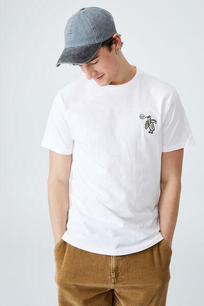 Tbar Art T-Shirt, WHITE/PEELIN GOOD