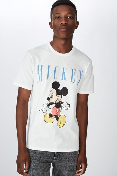 Tbar Collab Cny T-Shirt, LCN DIS VINTAGE WHITE/MICKEY MOUSE - STROLLING
