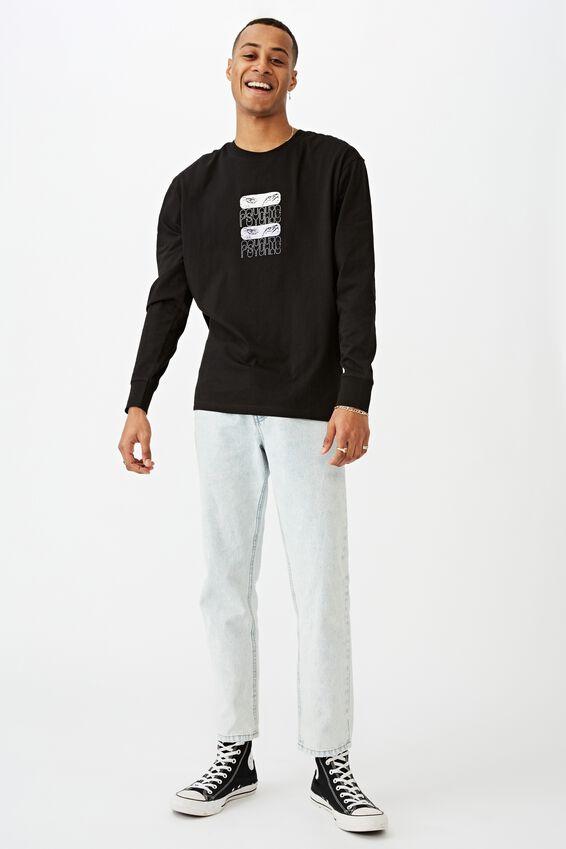 Tbar Long Sleeve T-Shirt, BLACK/PSYCHIC