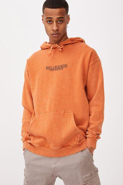 Premium Collab Fleece Pullover, LCN MIR DIRTY CLAY ACID/HELLRAISER INFERNO