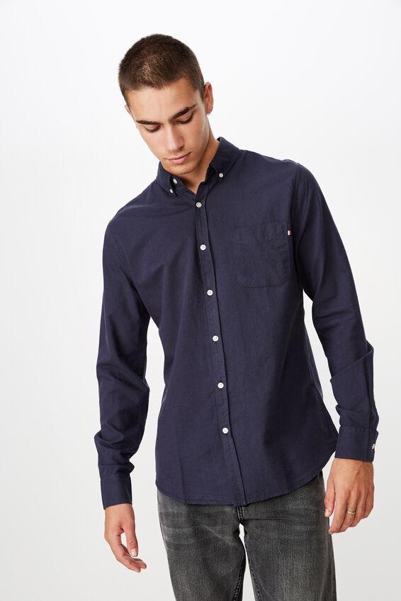 Brunswick Shirt 3, NAVY OXFORD
