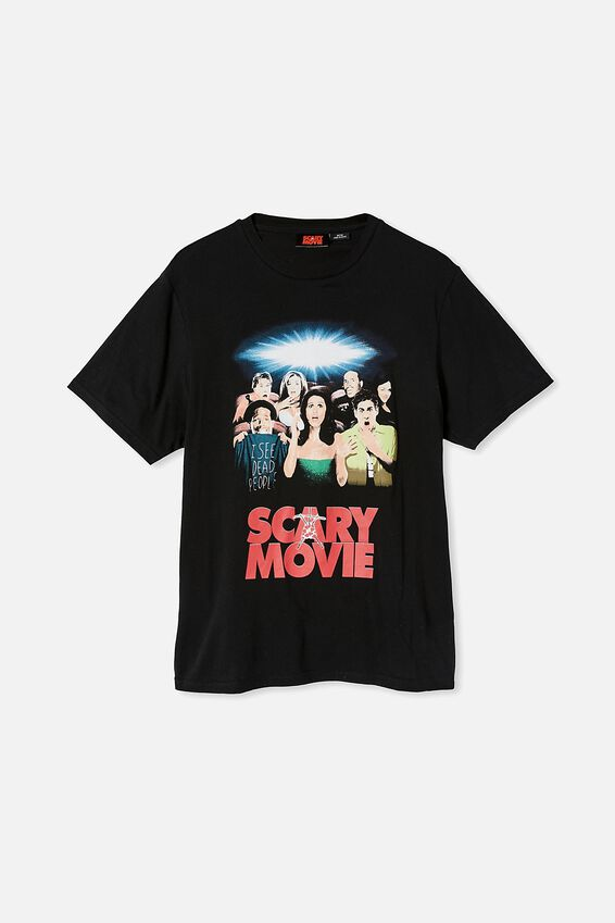 Tbar Collab Movie And Tv T-Shirt, LCN MIR BLACK/SCARY MOVIE-POSTER