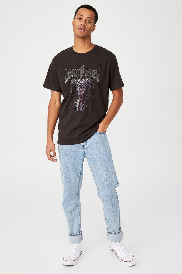 Tbar Moto T-Shirt, WASHED BLACK/DISTANT PARADISE