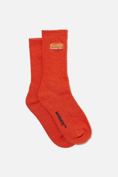 Special Edition Active Sock, LCN MARMITE/VINTAGE RED