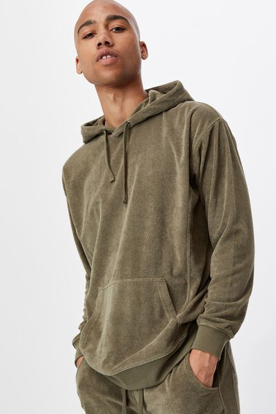 French Terry Pullover, MILITARY