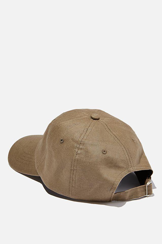 Strap Back Dad Hat, OLIVE TEXTURE/STUDIO JOURNAL
