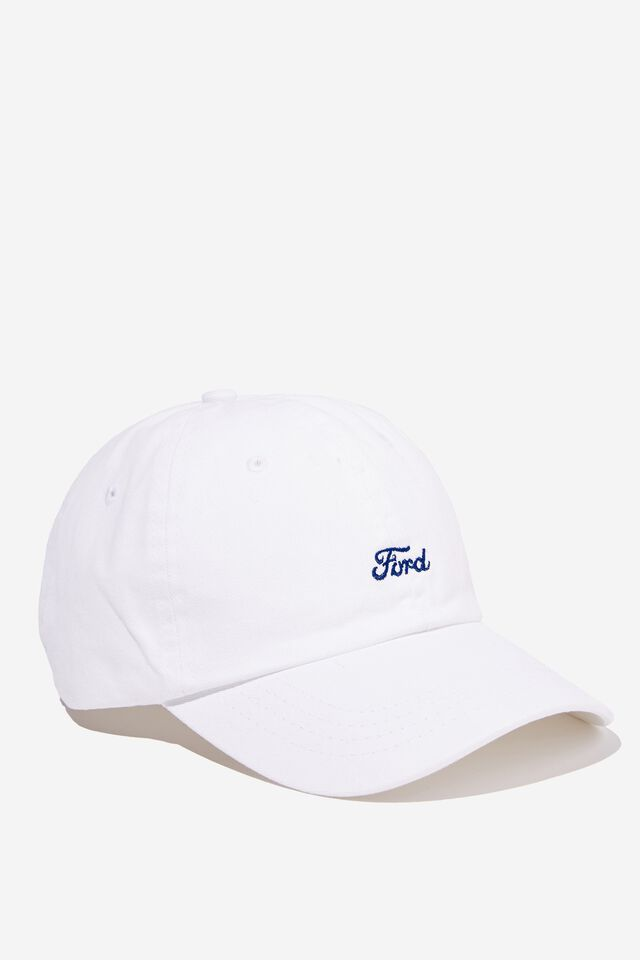 Ford Dad Hat Personalised, LCN FOR WHITE/FORD LOGO