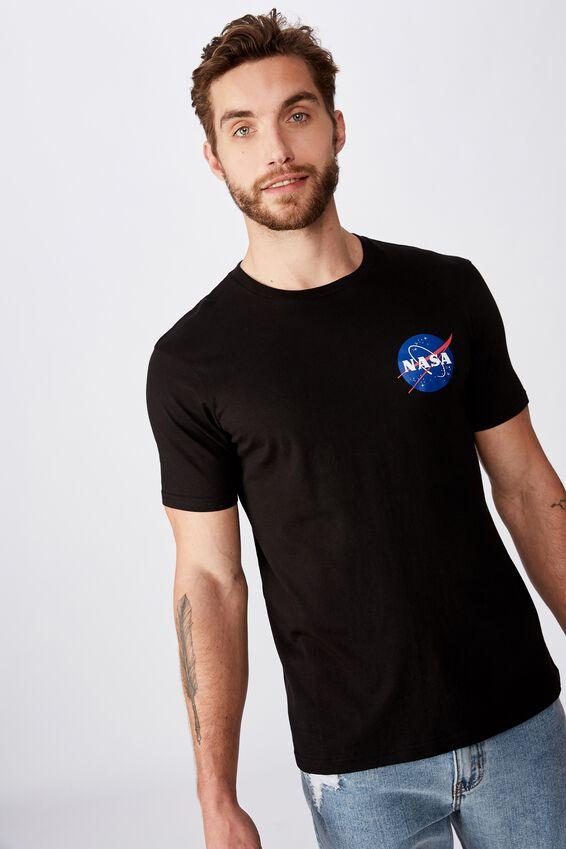 Tbar Collab Pop Culture T-Shirt, LCN NAS BLACK/NASA - WORLD LOGO