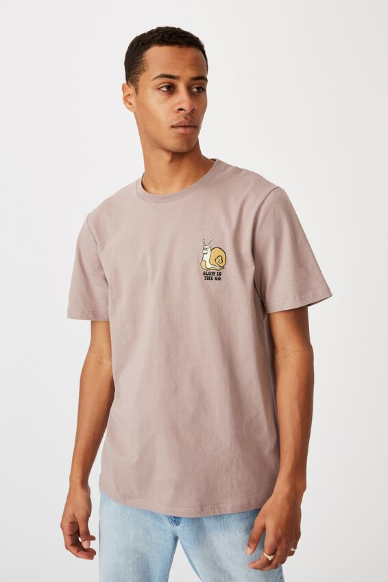 Tbar Art T-Shirt, DUSK/SLOW IS THE GO
