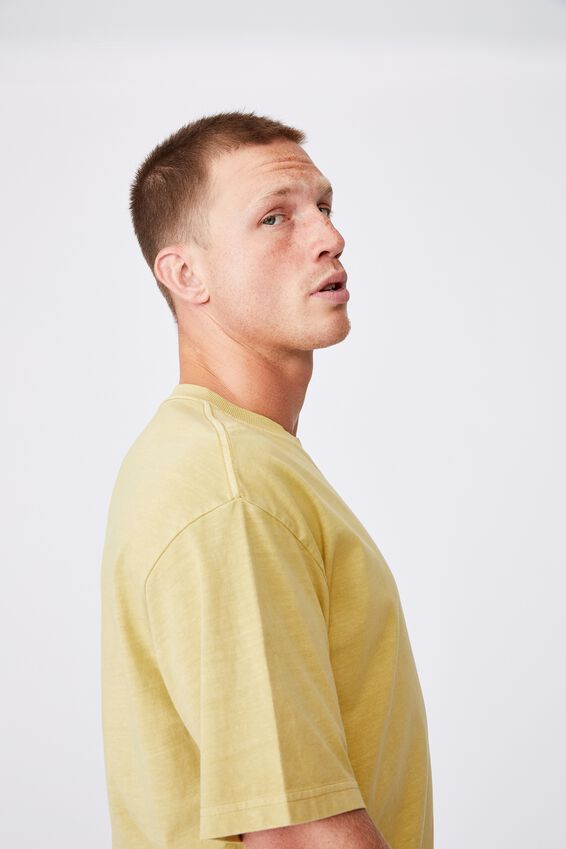 Washed Pocket T-Shirt, FROSTED HONEY